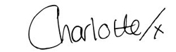 Charlotte's signature