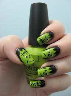 Frankenstein monster manicure