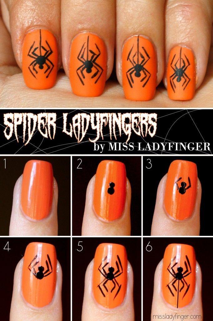 Hair raising spider nails