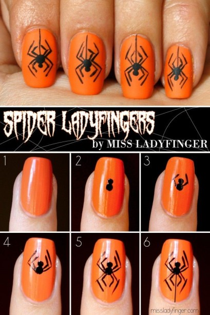 Hair raising spider nails