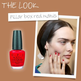 Pillar box red nails