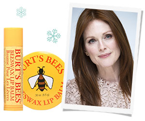 Julianne Moore swears by Burt's Bees and their natural formulas