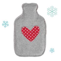Hot Water Bottles warming Spotty Retro Heart