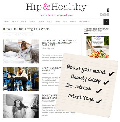 Hip & Healthy do more realistic resolutions