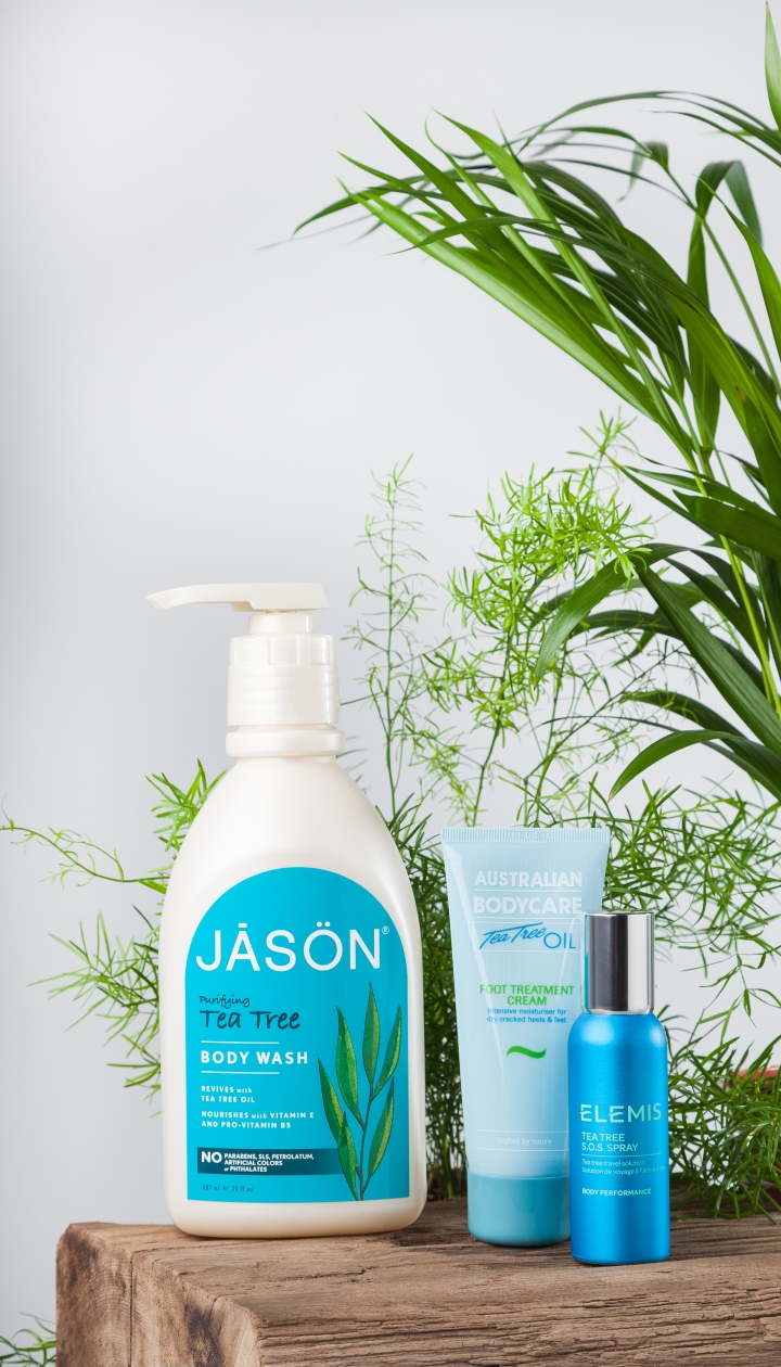 Jason, Australian Bodycare and Elemis - all containing the miracle ingredient Tea Tree
